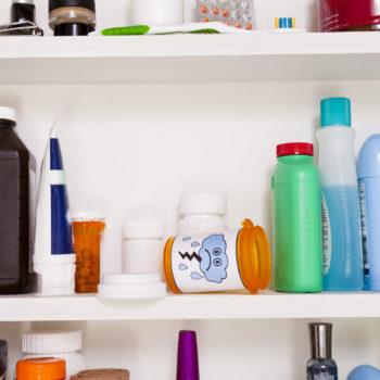 decluttering medicine cabinet